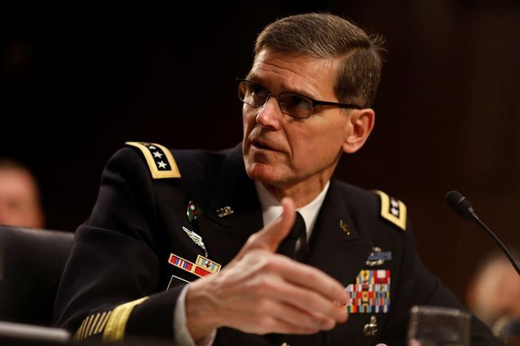 U.S. Army Gen. Joseph Votel, commander of the U.S. Central Command, testifies before the Senate Armed Services Committee on Capitol Hill in Washington March 9, 2017.  REUTERS/Aaron P. Bernstein