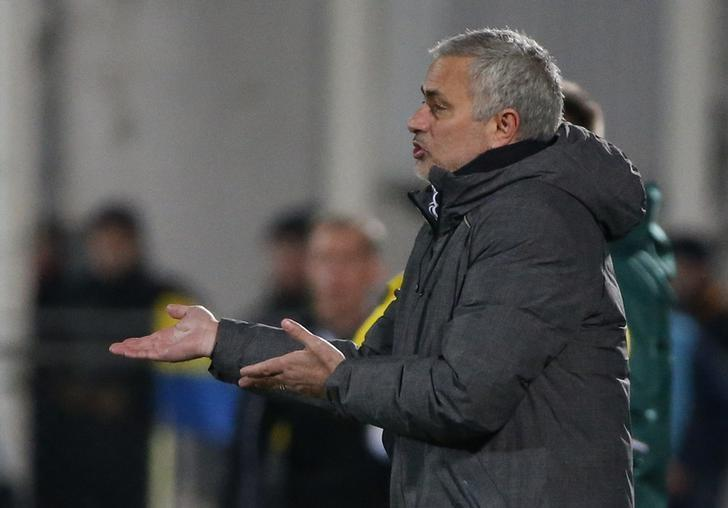 Football Soccer - FC Rostov v Manchester United - Europa League Round of 16 First Leg - Olimp-2 Stadium, Rostov-on-Don, Russia - 9/3/17 Manchester United manager Jose Mourinho  Reuters / Grigory Dukor Livepic