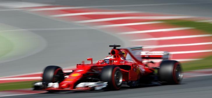Formula One - F1 - Test session - Barcelona-Catalunya racetrack in Montmelo, Spain - 10/3/17 - Ferrari's Kimi Raikkonen in action. REUTERS/Albert Gea