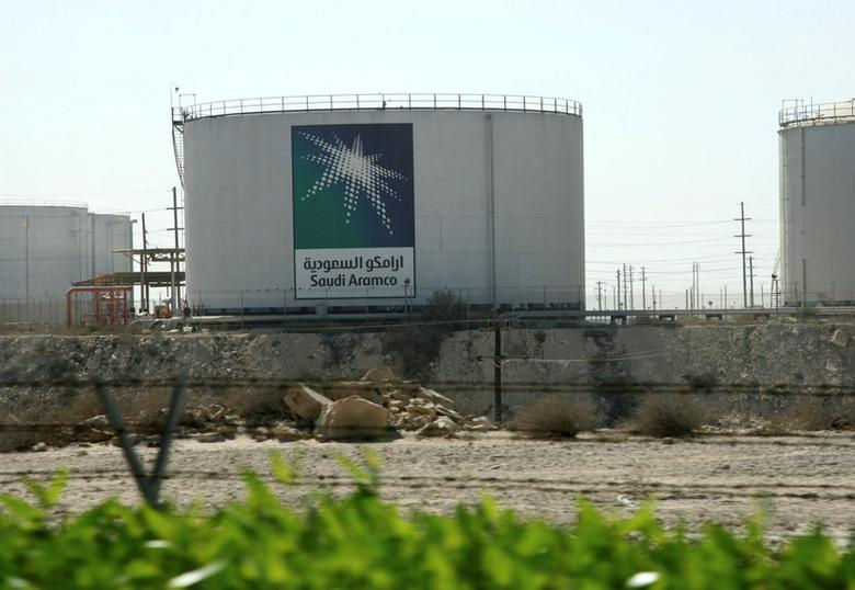FILE PHOTO: Oil tanks seen at the Saudi Aramco headquarters during a media tour at Damam city November 11, 2007. REUTERS/Ali Jarekji/File Photo