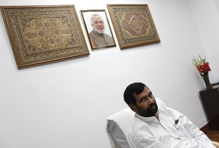 India's Food Minister Ram Vilas Paswan speaks during an interview with Reuters in New Delhi November 12, 2014. REUTERS/Adnan Abidi/Files
