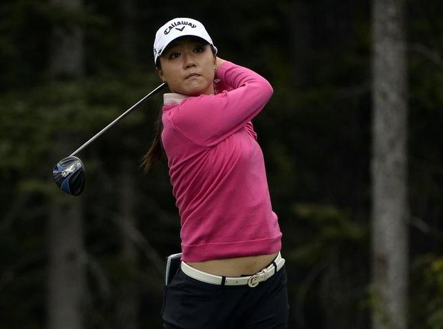 3月14日、女子ゴルフの世界ランクで、リディア・コ(写真、ニュージーランド)が92週連続1位となり、朴仁妃(韓国)に並ぶ歴代3番目の記録を達成した。2016年8月撮影(2017年 ロイター/Eric Bolte-USA TODAY Sports)