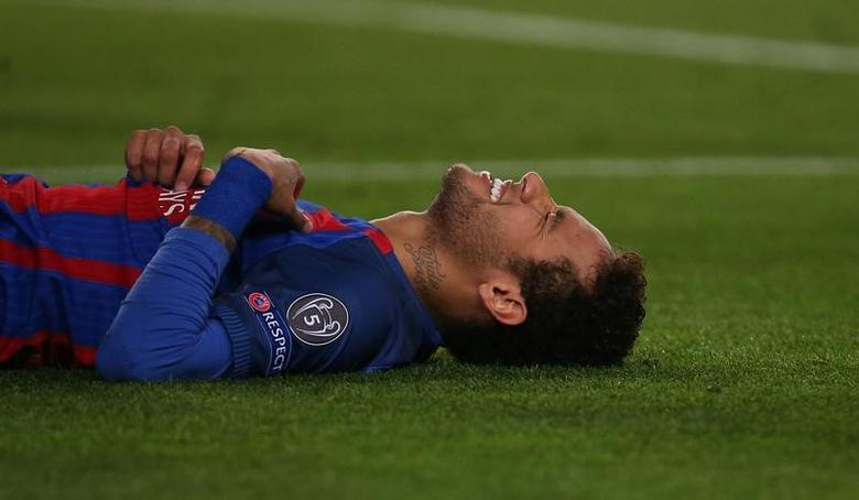 Football Soccer - Barcelona v Paris St Germain - UEFA Champions League Round of 16 Second Leg - The Nou Camp, Barcelona, Spain - 8/3/17 Barcelona's Neymar Reuters / Sergio Perez Livepic