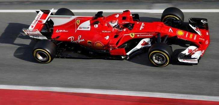 Formula One - F1 - Test session - Barcelona-Catalunya racetrack in Montmelo, Spain - 28/02/17. Ferrari's Kimi Raikkonen in action.    REUTERS/Albert Gea/File Photo