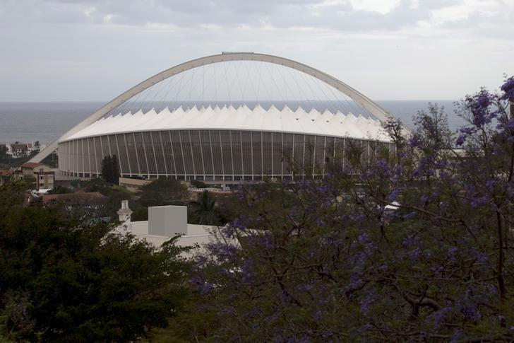 A general view of Moses Mabhida Stadium in Durban, September 2, 2015. REUTERS/Rogan Ward
