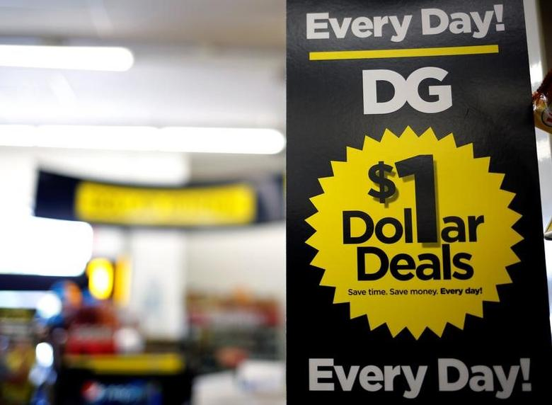 A sign is seen inside a Dollar General store in Chicago, Illinois, U.S. May 23, 2016.   REUTERS/Jim Young