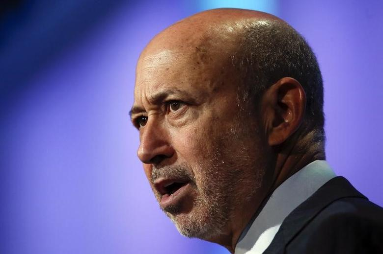 Goldman Sachs Group, Inc. Chairman and Chief Executive Officer Lloyd Blankfein speaks during the plenary session titled ''Equality for Girls and Women: 2034 Instead of 2134?'' at the Clinton Global Initiative 2014 (CGI) in New York, September 24, 2014. REUTERS/Shannon Stapleton
