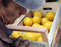 Foto de archivo de un hombre cargando un cajón de limones en Buenos Aires. Sep 30, 2016. El Departamento de Agricultura de Estados Unidos (USDA por sus iniciales en inglés) dijo el viernes que emitirá una segunda suspensión por 60 días a una norma que permite importar limones de Argentina. REUTERS/Enrique Marcarian