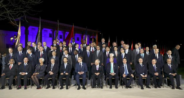 Family picture during the G20 Finance Ministers and Central Bank Governors Meeting in Baden-Baden, Germany, March 17, 2017.
