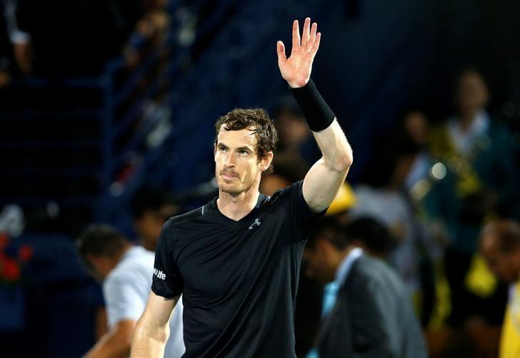 Tennis - Dubai Open - Men's Singles - Final- Andy Murray of Britain v Fernando Verdasco of Spain - Dubai, UAE - 04/03/2017- Andy Murray celebrates. REUTERS/Ahmed Jadallah