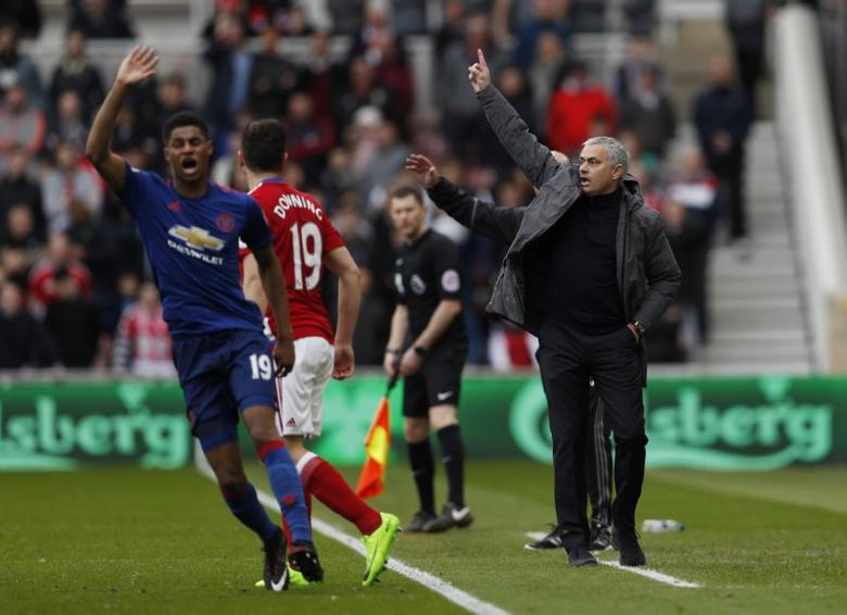 Middlesbrough v Manchester United - Premier League - The Riverside Stadium - 19/3/17 Manchester United manager Jose Mourinho  Action Images via Reuters / Lee Smith Livepic
