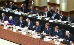 Vista general de la reunión del G-20 celebrada en Baden Baden, Alemania. 17 marzo 2017. China se opone a los variados tipos de proteccionismo y apoya el libre comercio, afirmó el domingo el viceprimer ministro Zhang Gaoli, reafirmando la posición de Pekín en medio de preocupaciones sobre el debilitamiento de la demanda global. REUTERS/Kai Pfaffenbach