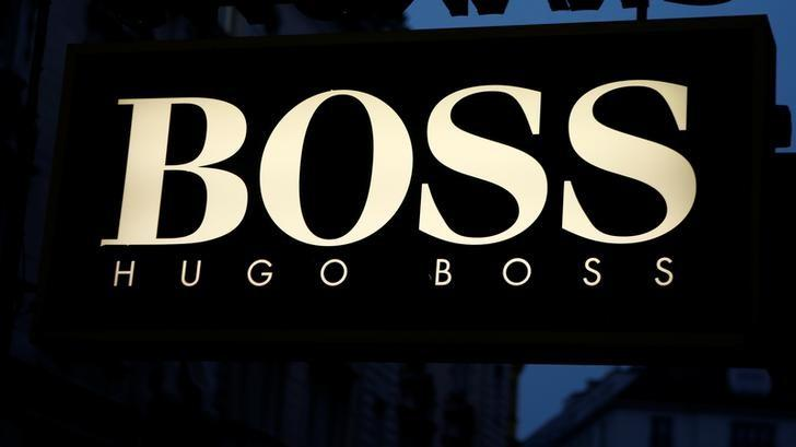 The logo of German fashion company Hugo Boss is seen at a store in Vienna, Austria, November 23, 2016.  REUTERS/Leonhard Foeger