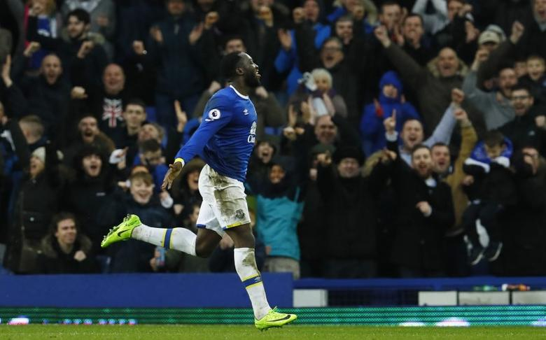 Everton v Hull City - Premier League - Goodison Park - 18/3/17 Everton's Romelu Lukaku celebrates scoring their fourth goal  Action Images via Reuters / Jason Cairnduff Livepic