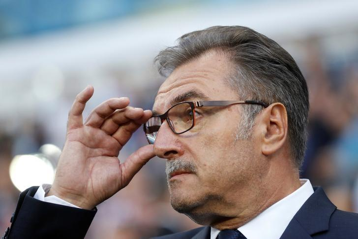 FILE PHOTO: Croatia head coach Ante Cacic, Stade Bollaert-Delelis, Lens, France - 25/6/16REUTERS/Carl Recine/File Photo