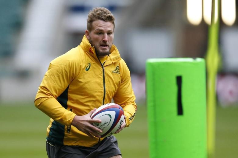 Britain Rugby Union - Australia Captain's Run - Twickenham Stadium - 2/12/16 Australia's James Slipper during the Captain's Run Action Images via Reuters / Andrew Boyers Livepic EDITORIAL USE ONLY. - RTSUDIS