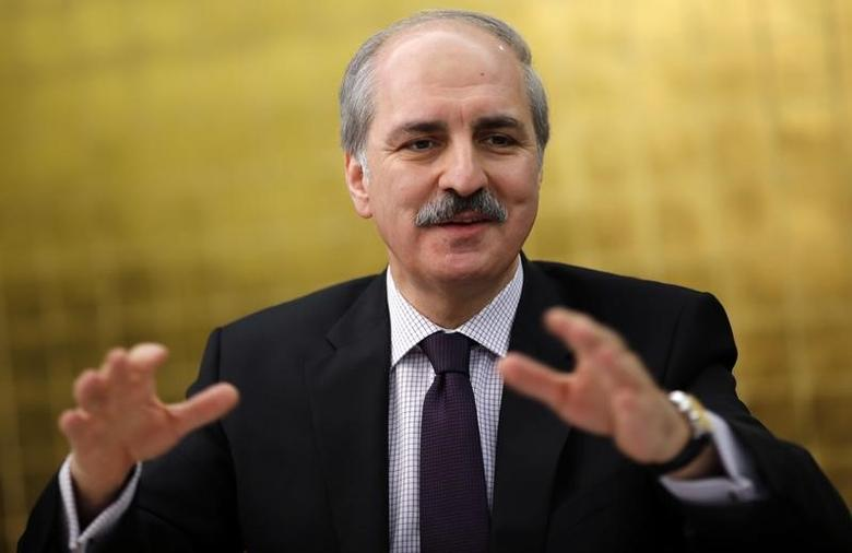 Turkey's ruling Ak Party (AKP) Deputy Chairman responsible for Economic Affairs Numan Kurtulmus talks to foreign media in Ankara January 21, 2014. REUTERS/Umit Bektas/Files
