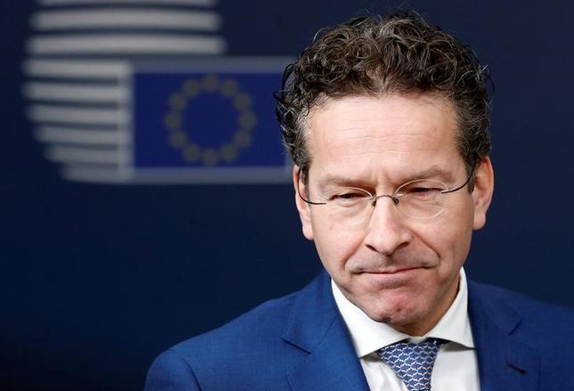 3月20日、ユーロ圏財務相会合のデイセルブルム議長は、欧州安定メカニズム(ESM)について、欧州版IMFになるべきだとの見方を示した。写真は前月21日撮影。(2017年 ロイター/ Francois Lenoir)