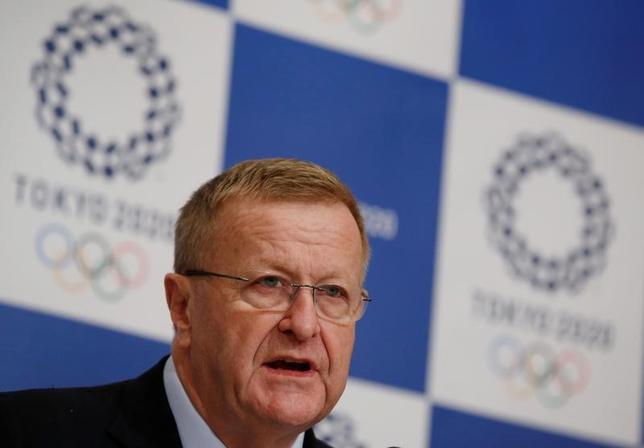 3月21日、国際オリンピック委員会(IOC)のジョン・コーツ副会長は、2020年東京五輪のゴルフ会場となる埼玉県川越市の霞ケ関カンツリー倶楽部(CC)が女性正会員の受け入れを決定したことを歓迎した。2016年12月撮影(2017年ロイター/Kim Kyung-Hoon)