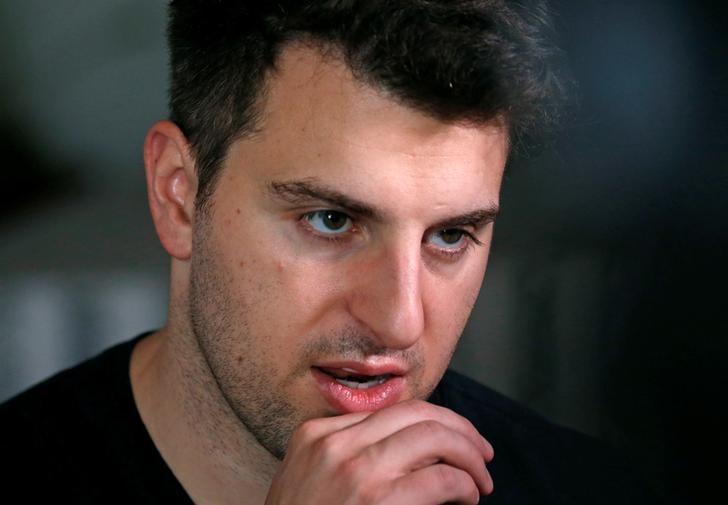 Co-founder and CEO of Airbnb Brian Chesky speaks during an interview in Langa township, Cape Town, South Africa March 17, 2017. REUTERS/Mike Hutchings