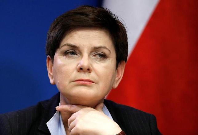 3月23日、ポーランドのシドゥウォ首相は英国が離脱した後の欧州連合(EU)の将来像を巡る「ローマ宣言」について、ポーランドが重要と考える項目に言及していなければ採択しない可能性があるとの見解を明らかにした。ブリュッセルで10日撮影(2017年 ロイター/Yves Herman)