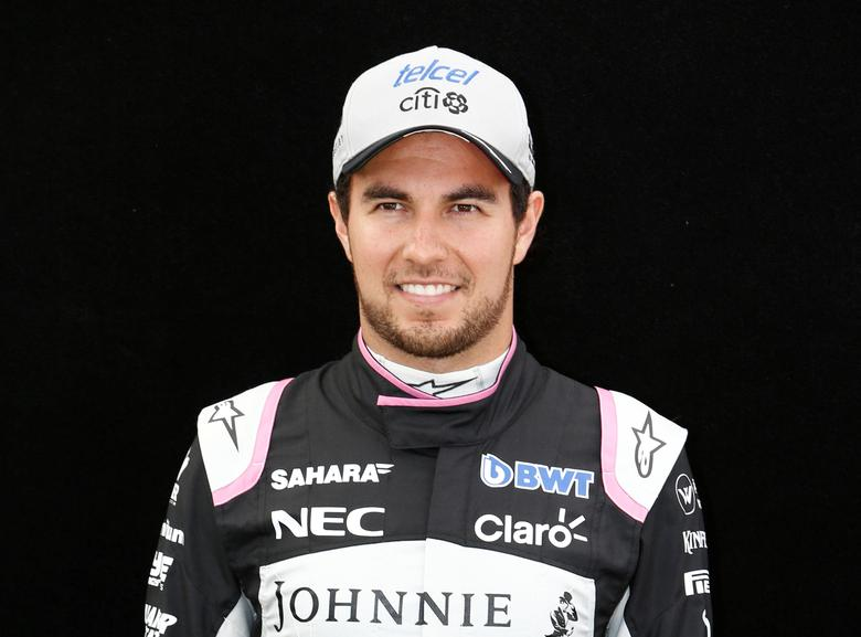 Formula One - F1 - Australian Grand Prix - Melbourne, Australia - 23/03/2017 Force India driver Sergio Perez of Mexico poses during the driver portrait session at the first race of the year.     REUTERS/Brandon Malone