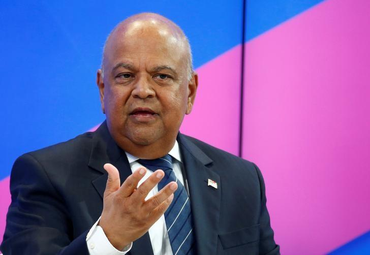 Pravin Gordhan, minister of finance of South Africa, attends the World Economic Forum meeting in Davos, Switzerland, January 19, 2017.  REUTERS/Ruben Sprich/Files