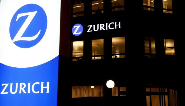 The logo of Swiss insurance Zurich is seen at an office building in Zurich, Switzerland November 16, 2016.    REUTERS/Arnd Wiegmann