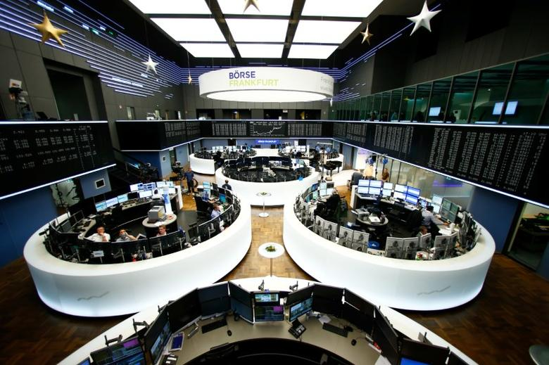 The trading floor is pictured at the stock exchange in Frankfurt, Germany, December 8, 2016.    REUTERS/Ralph Orlowski/Files