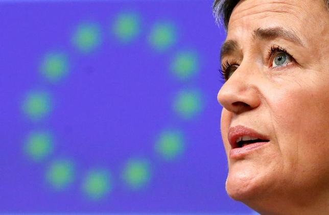3月29日、欧州委員会はロンドン証券取引所グループ(LSE)とドイツ取引所の合併計画を予想通り却下した。欧州委のベステアー委員(写真)は声明で「両取引所は当委員会の競争に関する懸念を解決する方策を示すことができなかった」と述べた。13日撮影(2017年 ロイター/Francois Lenoir)