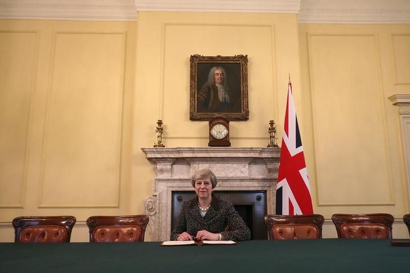 British PM May fires starting gun on Brexit