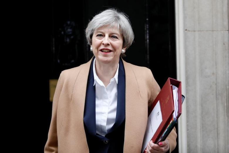 Britain's Prime Minister Theresa May leaves 10 Downing Street in London, March 29, 2017. REUTERS/Stefan Wermuth