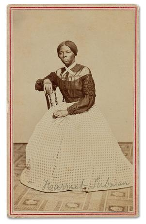 A Civil War-period carte-de-visite album with 48 photographs, including a previously unrecorded image of Harriet Tubman, is up for auction at Swann Auction, as seen in this undated handout photo.  Swann Auction Galleries/Handout via REUTERS