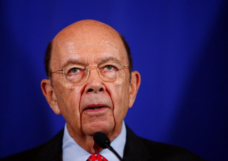U.S. Commerce Secretary Wilbur Ross holds a news conference at the Department of Commerce. REUTERS/Eric Thayer