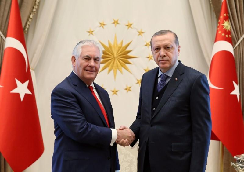 Erdogan urged use of 'legitimate' actors in Syria in talks with Tillerson - sources