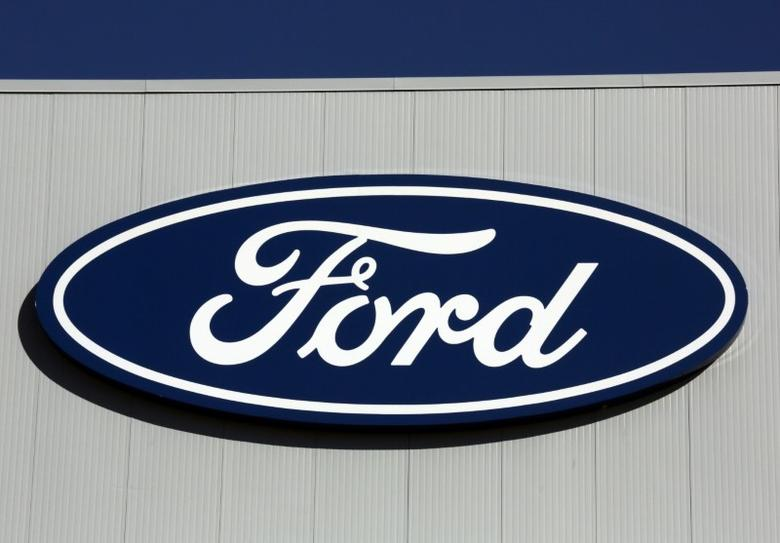 A Ford logo is seen on a wall of the Oakville Assembly Plant as workers with UNIFOR attended a ratification vote nearby, in Oakville, Ontario, Canada November 6, 2016. REUTERS/Chris Helgren