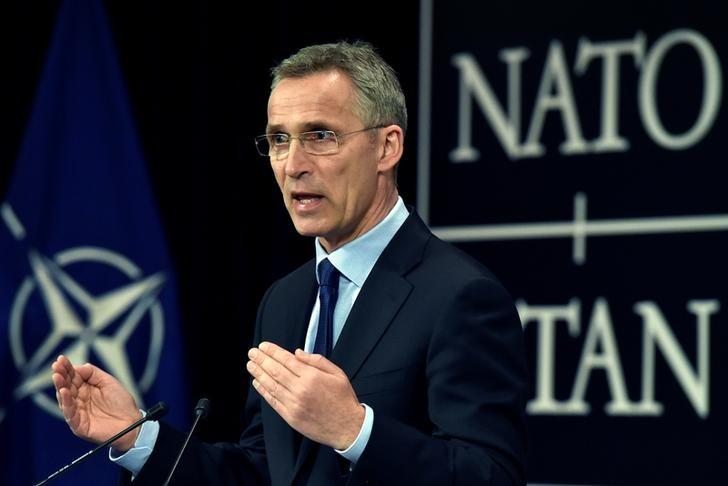 NATO Secretary General Jens Stoltenberg holds a news conference ahead of the NATO foreign ministers meeting at NATO Headquarters in Brussels, Belgium March 30, 2017. Reuters/Eric Vidal