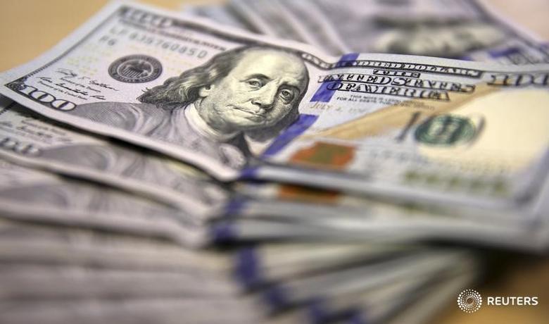 资料图片:2014年8月,百元面值的美元纸币。REUTERS/Siphiwe Sibeko
