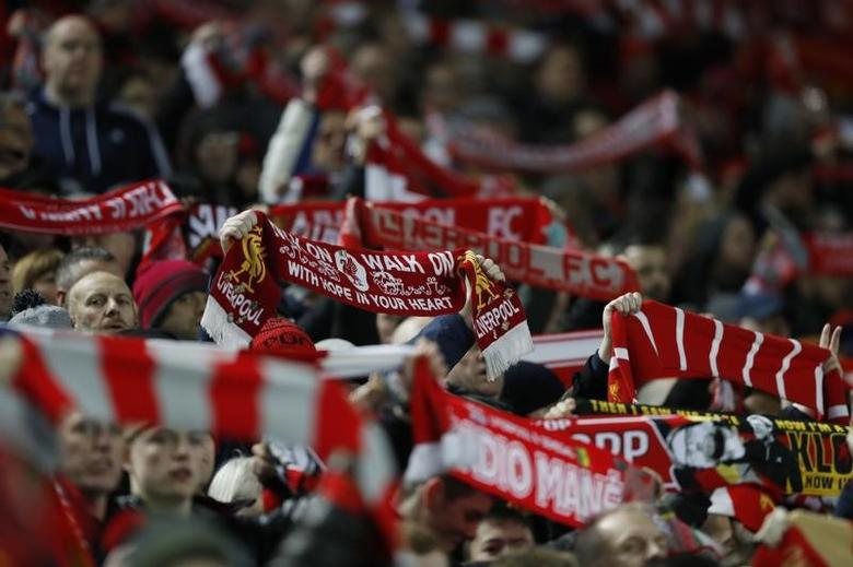 Britain Football Soccer - Liverpool v Stoke City - Premier League - Anfield - 27/12/16 Liverpool fans before the match  Action Images via Reuters / Carl Recine Livepic