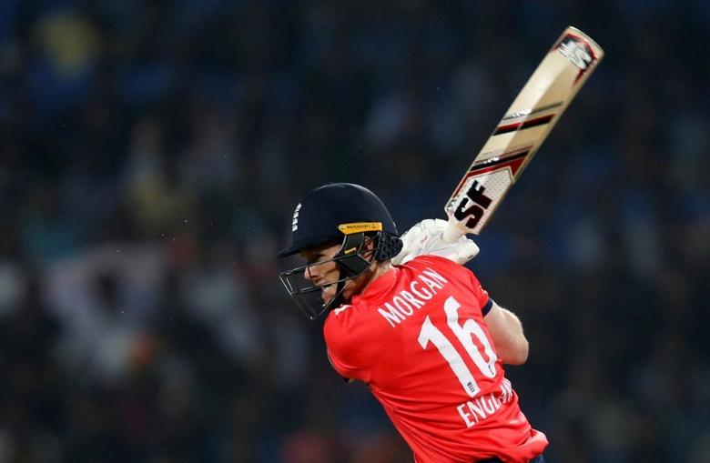 Cricket - India v England - Second T20 International - Vidarbha Cricket Association Stadium, Nagpur, India - 29/01/17. England's captain Eoin Morgan plays a shot. REUTERS/Danish Siddiqui/Files