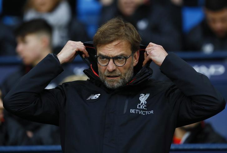 Britain Soccer Football - Manchester City v Liverpool - Premier League - Etihad Stadium - 19/3/17 Liverpool manager Juergen Klopp Action Images via Reuters / Jason Cairnduff/ Livepic/ Files