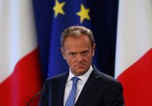 En la imagen, el presidente del Consejo Europeo, Donald Tusk, en La Valeta el 31 de marzo de 2017. La Unión Europea está lista para discutir con Reino Unido sobre un futuro acuerdo comercial antes de que ambas partes pacten los términos finales de la salida británica del bloque, según unas guías de negociación de la UE publicadas el viernes. REUTERS/Darrin Zammit Lupi