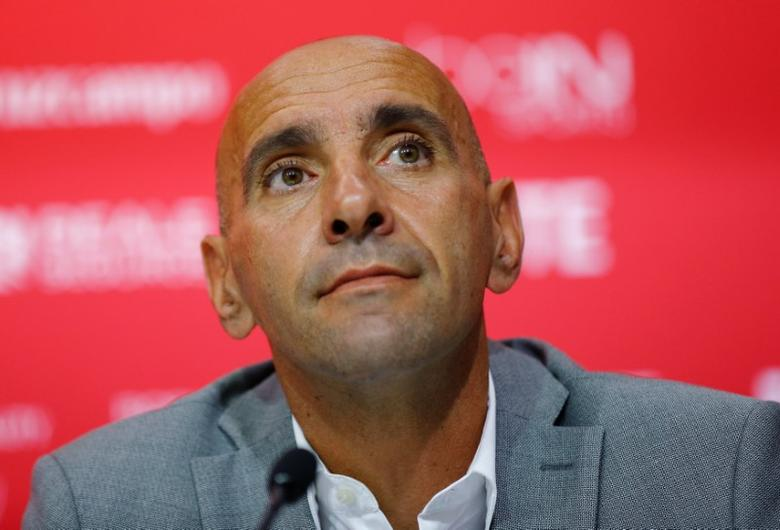 Sevilla news conference - Seville, Southern Spain - 04/07/16. Sevilla's sport director Ramon Rodriguez ''Monchi'' looks on. REUTERS/Marcelo del Pozo  Picture Supplied by Action Images