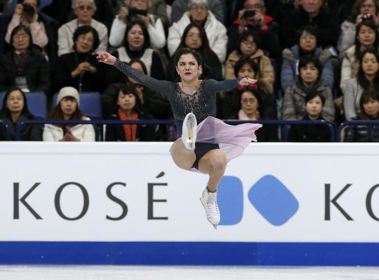 Evgenia Medvedeva of Russia competes. REUTERS/Grigory Dukor