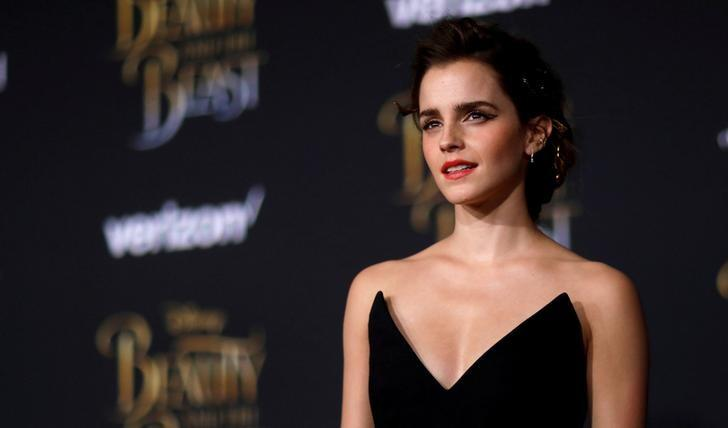 FILE PHOTO: Cast member Emma Watson poses at the premiere of ''Beauty and the Beast'' in Los Angeles, California, U.S. March 2, 2017.   REUTERS/Mario Anzuoni/File Photo