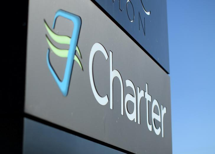 A Charter Communications company store sign is pictured in Long Beach, California, U.S., January 26, 2017.   REUTERS/Mike Blake/File Photo