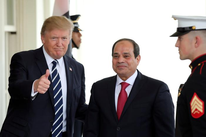 Image result for Trump tells Sisi U.S., Egypt will fight Islamist militants together