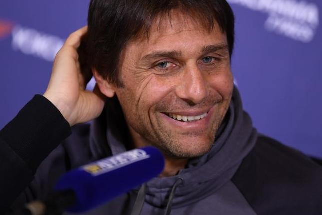 Britain Football Soccer - Chelsea - Antonio Conte Press Conference - Chelsea Training Ground - 4/4/17 Chelsea manager Antonio Conte during the press conference Action Images via Reuters / Tony O'Brien Livepic EDITORIAL USE ONLY.