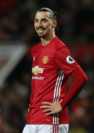 Britain Football Soccer - Manchester United v Everton - Premier League - Old Trafford - 4/4/17 Manchester United's Zlatan Ibrahimovic  Reuters / Andrew Yates Livepic