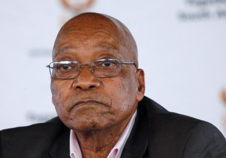 2017年4月1日,南非彼得马里茨堡,南非总统祖马出席一次集会。REUTERS/Rogan Ward